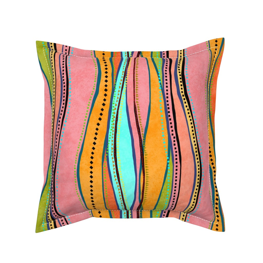 Serama Throw Pillow featuring Castaways Papaya 150 by kadyson