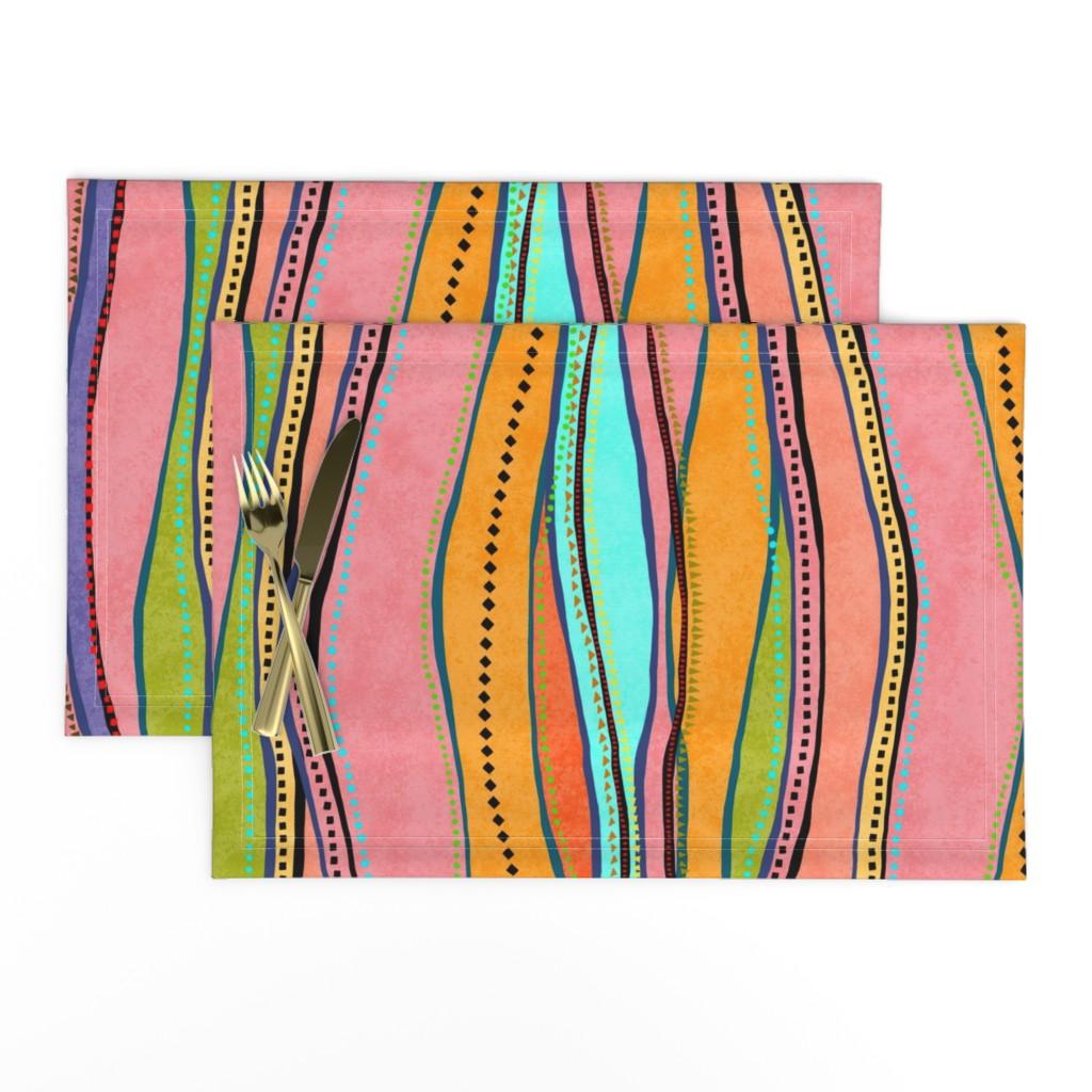 Lamona Cloth Placemats featuring Castaways Papaya 150 by kadyson