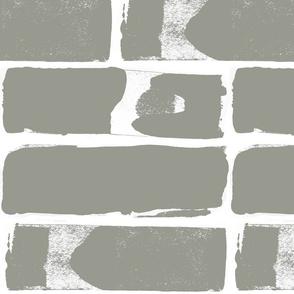 Grey and white modern brick large