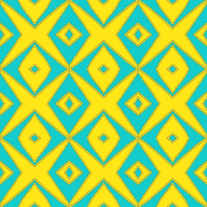Ziwa Ziwa 2 in Turquoise & Yellow