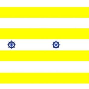 Rayures marine jaune gouvernail de bateau - Yellow Navy pinstripe boat rudder