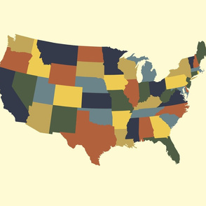 Continental U.S. - bayeux colors