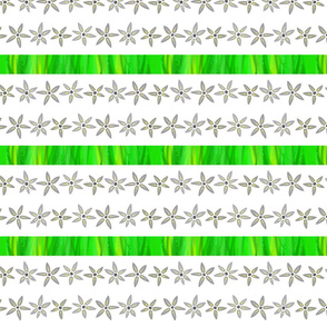 Grass and flowers - Herbe & fleurs (blanc white)
