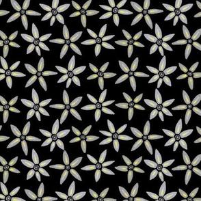 Fleurs grises (noir)- Grey flowers (black)