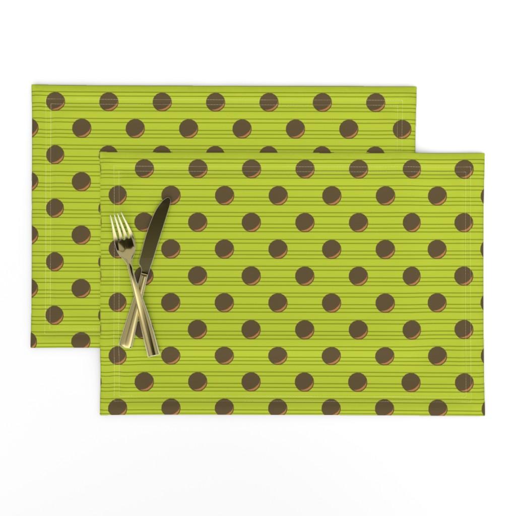Lamona Cloth Placemats featuring avocado stripe3 by b0rwear