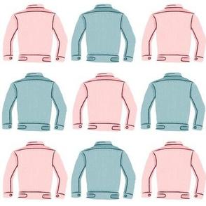 Denim Jackets Pink + Blue