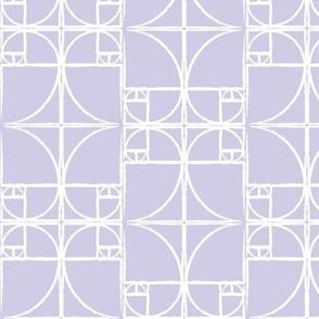 Lavender Fibonacci Spiral