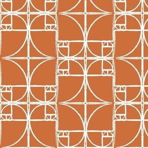 Pumpkin Fibonacci Spiral