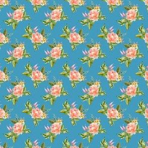 "1.5"" Ellie Florals - Bright Blue"