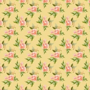 """1.5"""" Ellie Florals - Yellow"""
