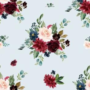 """8"""" Rustic Boho Florals - Blue"""