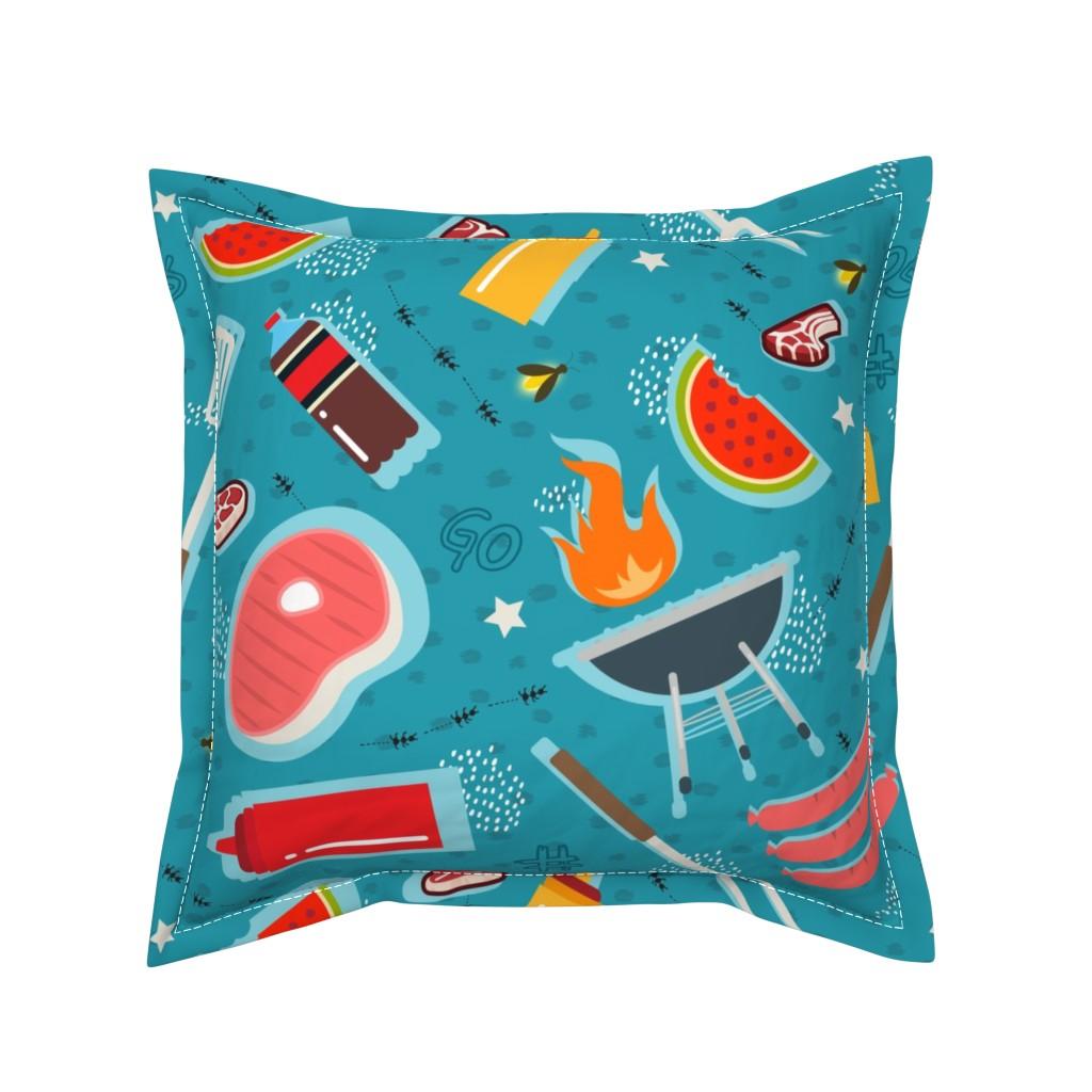 Serama Throw Pillow featuring Fresh and Homemade by brainsarepretty