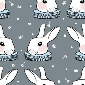 Alice In Wonderland - White Rabbit // Grey