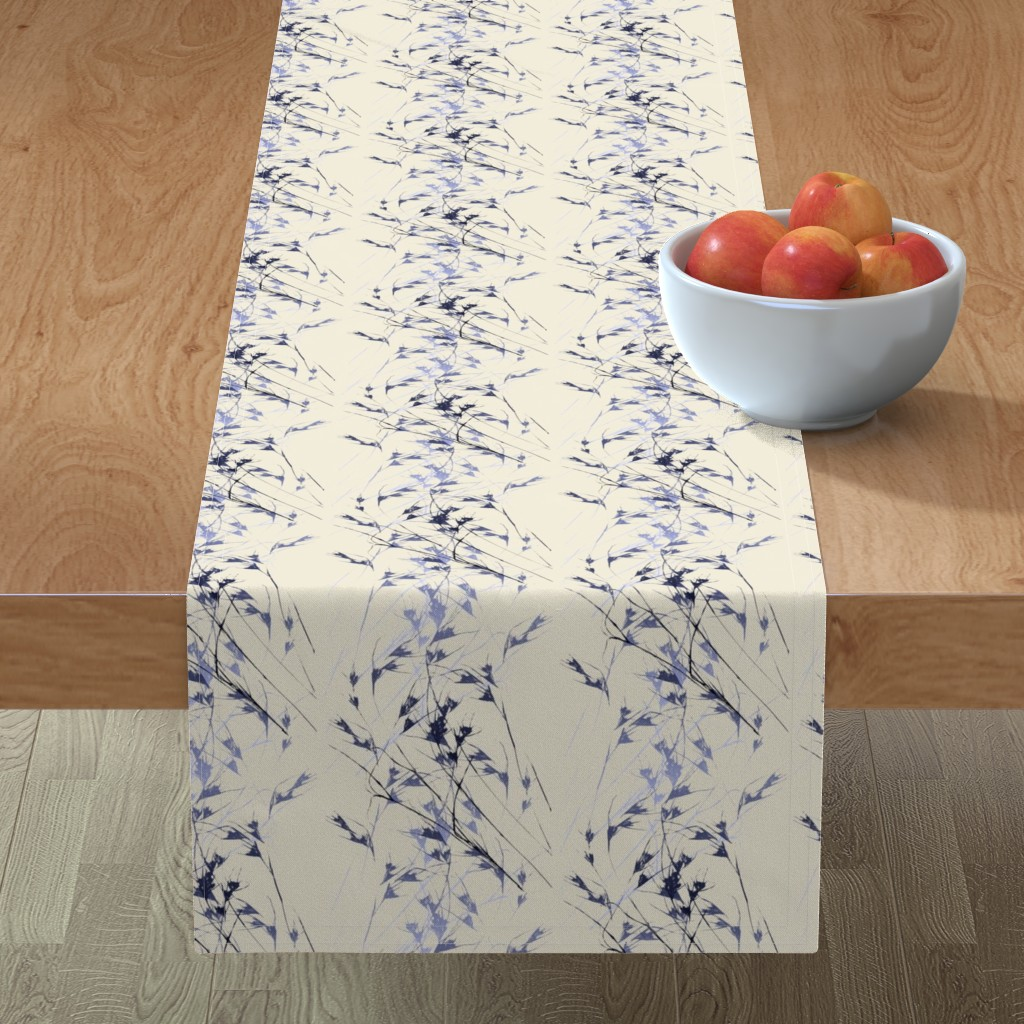 Minorca Table Runner featuring Many ways to garden (Native grass on bone) by Su_G_©SuSchaefer by su_g