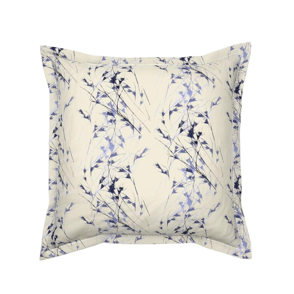 Serama Throw Pillow featuring Many ways to garden (Native grass on bone) by Su_G_©SuSchaefer by su_g
