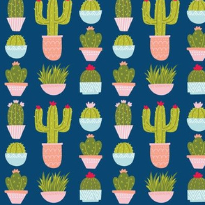 Potted Plants & Cactus - Navy