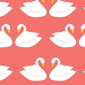 Swans in Coral