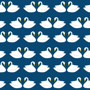Swans in Navy