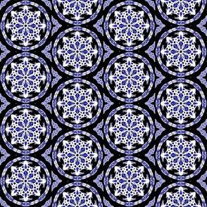 Midnight Snow Dark Tile