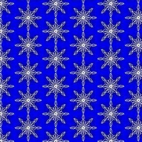 Midnight Snow Dotty Flakes Royal