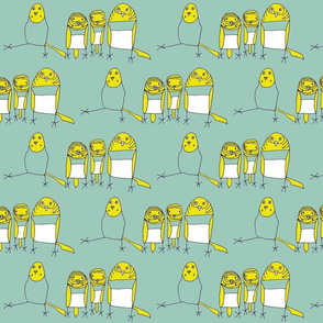 Budgie Family Blue-Green