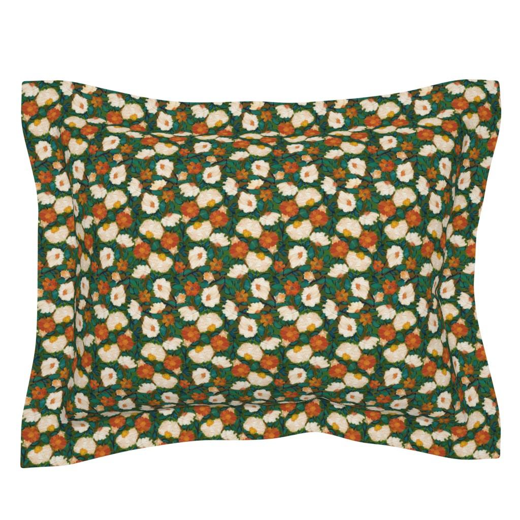 Sebright Pillow Sham featuring Evening Bloom S by delinda_graphic_studio