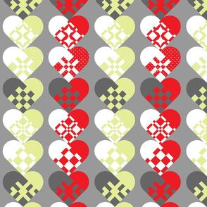 Christmas Danish Paper Hearts