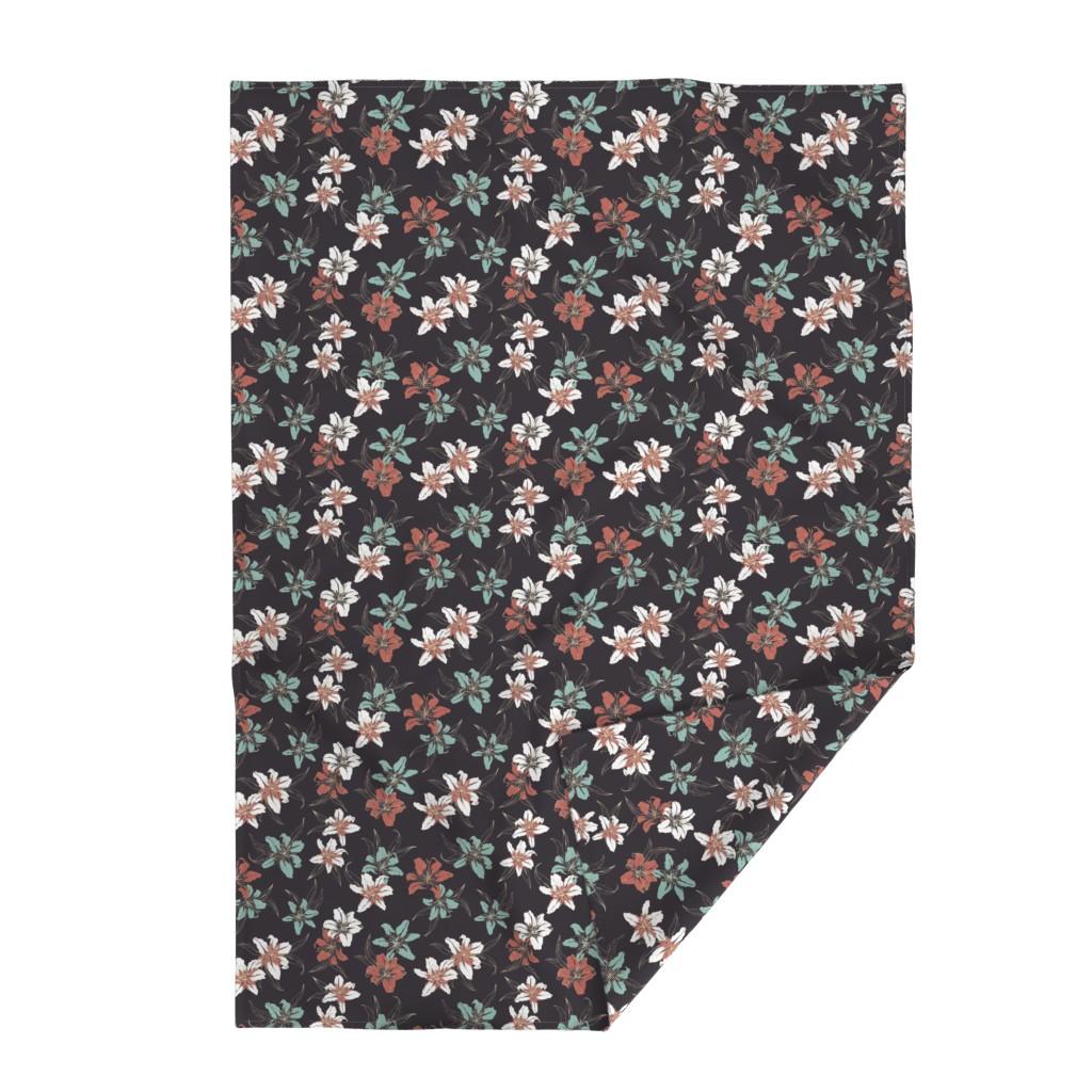Lakenvelder Throw Blanket featuring Summerflowers6 by susanna_nousiainen