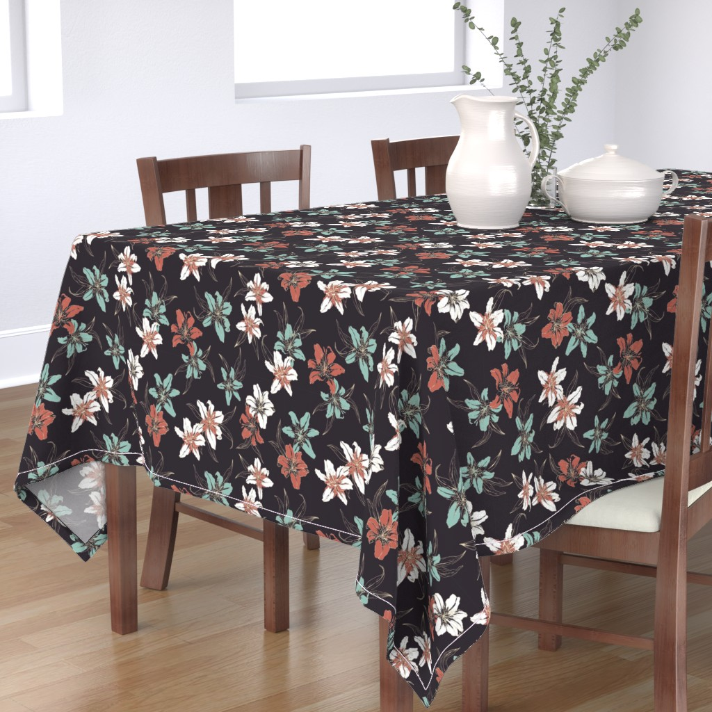 Bantam Rectangular Tablecloth featuring Summerflowers6 by susanna_nousiainen