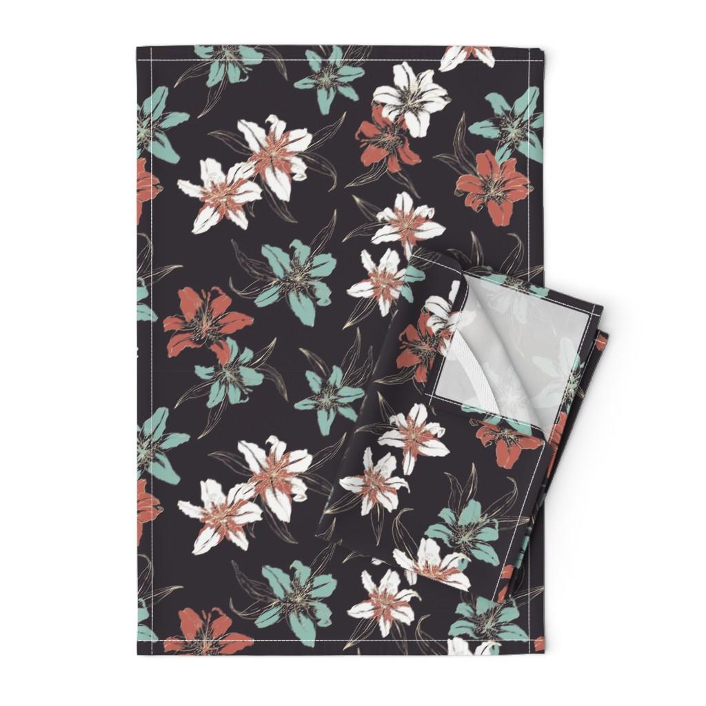 Orpington Tea Towels featuring Summerflowers6 by susanna_nousiainen