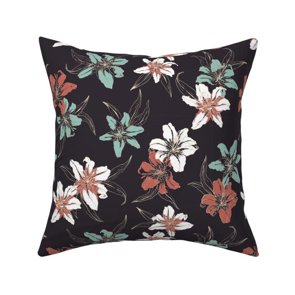 Catalan Throw Pillow featuring Summerflowers6 by susanna_nousiainen