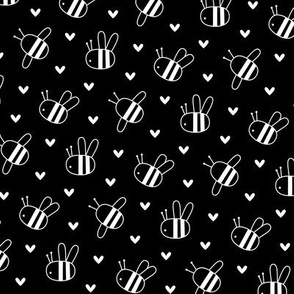 bumblebees black and white reversed