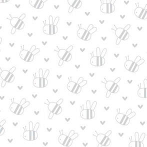 bumblebees light grey and white