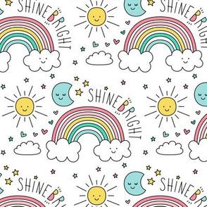 daydreamer shine bright rainbows