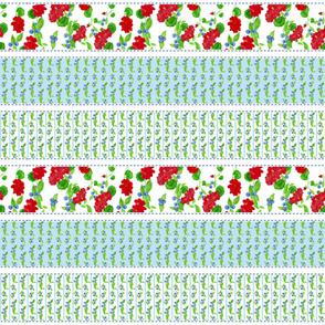 Watercolor Garden Cheater Quilt