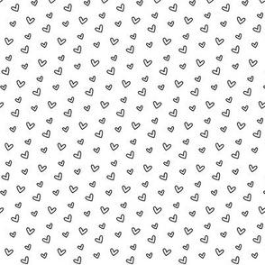 daydreamer black and white tiny hearts