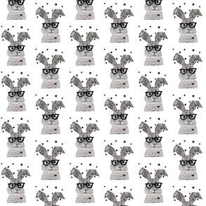 """3""""inch prints- monochrome bunny"""
