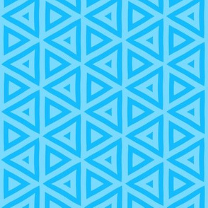 Boston Terrier Blue Geometric