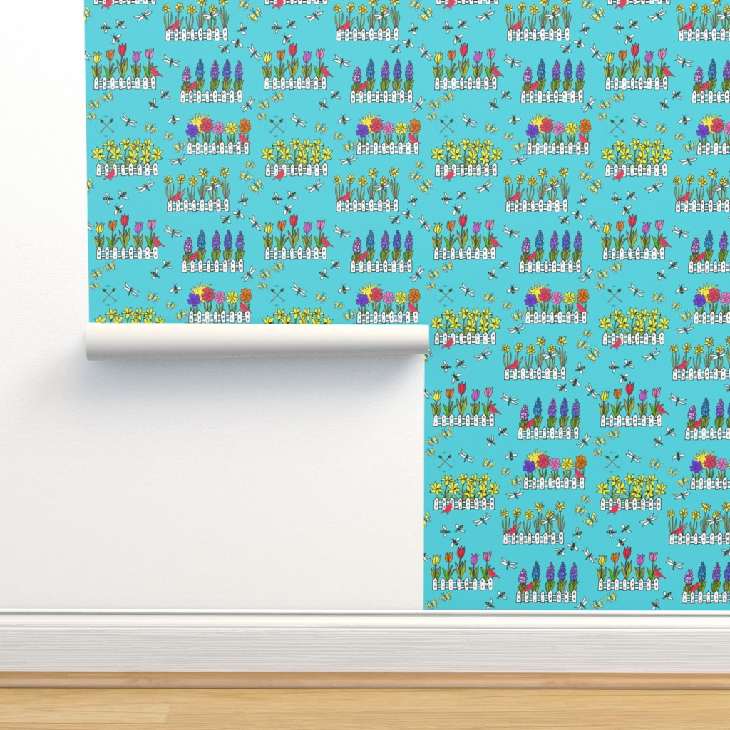 Isobar Durable Wallpaper featuring Spring Flower Gardening by lisakling