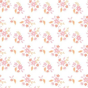 White and Pink Petite Floral