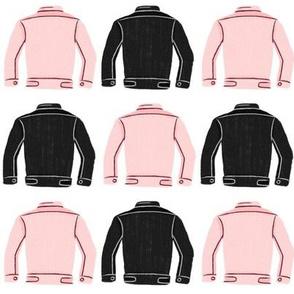 Denim Jackets Pink + Black