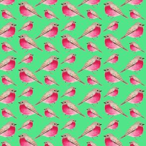 BIRDS ON MINT SEAMLESS TILE