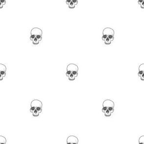 Skull Dots // White