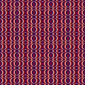retro waves red, blue, beige