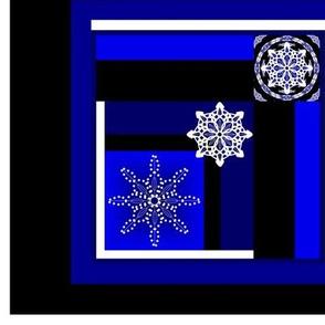 Midnight Snow Quilt Panel