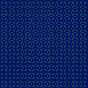 ellipse green on blue