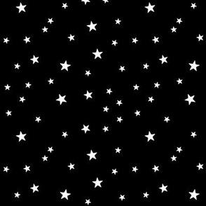 panda dreams stars black and white reversed