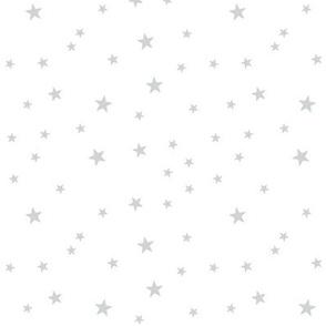 panda dreams stars light grey