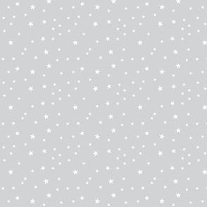 panda dreams stars light grey reversed small