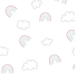 panda dreams rainbows + clouds